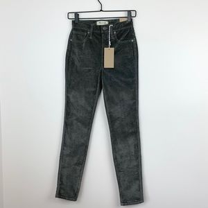 "Madewell | 10"" High-Rise Skinny Jeans Corduroy NWT"